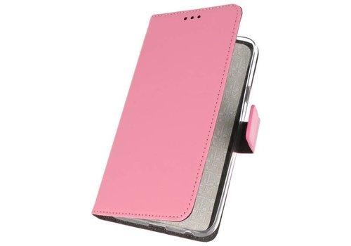 Wallet Cases Hoesje voor Galaxy J6 2018 Roze
