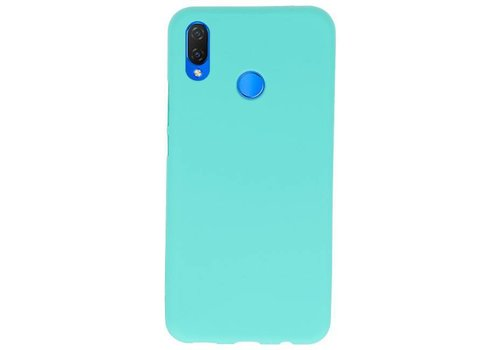 Color TPU Hoesje voor Huawei P Smart Plus Turquoise
