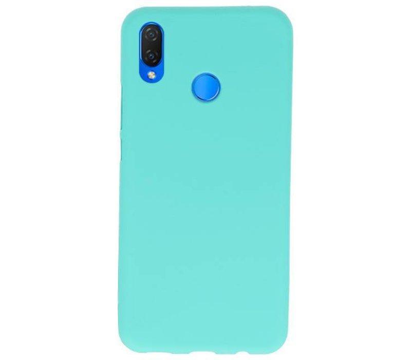 Color TPU Hoesje voor Huawei P Smart Plus Turquoise