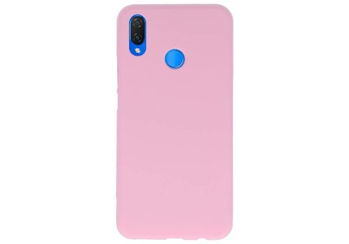 Color TPU Hoesje voor Huawei P Smart Plus Roze