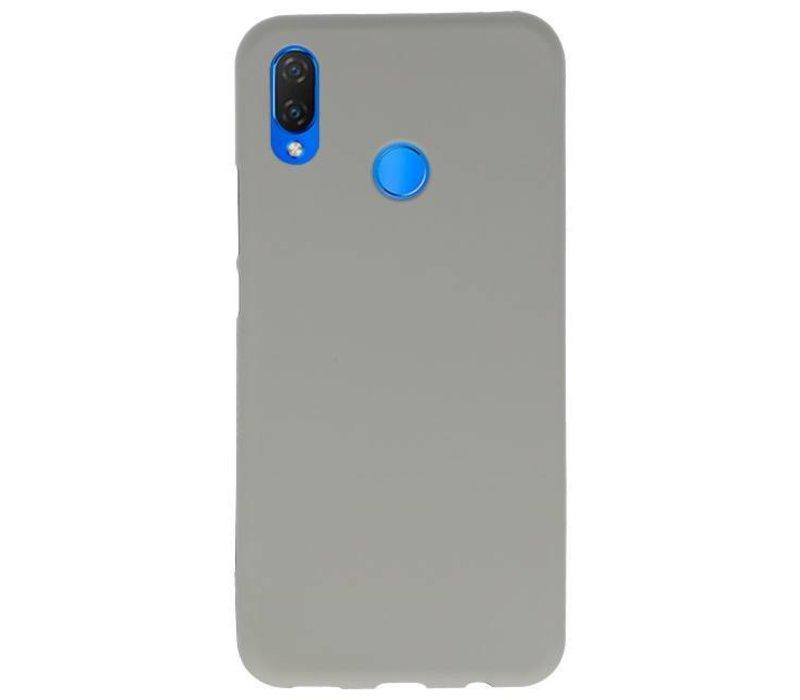 Color TPU Hoesje voor Huawei P Smart Plus Grijs