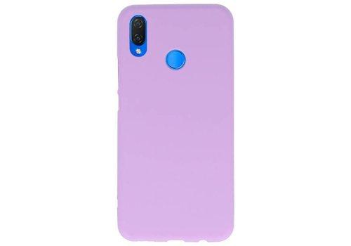 Color TPU Hoesje voor Huawei P Smart Plus Paars