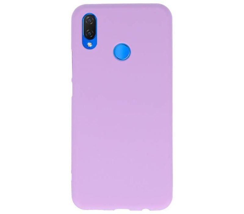 Color TPU Hoesje voor Huawei P Smart Plus Paars