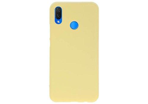 Color TPU Hoesje voor Huawei P Smart Plus Geel