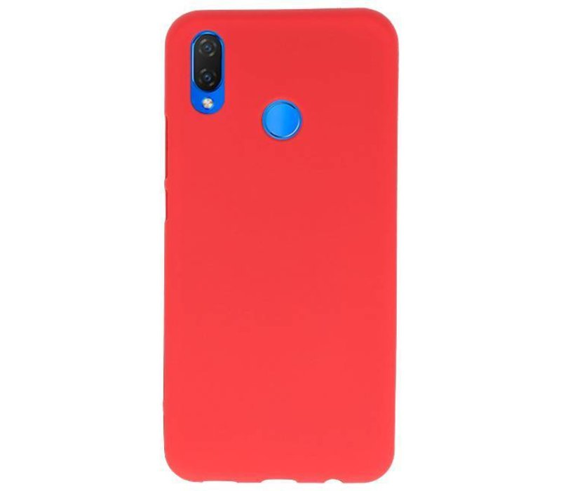Color TPU Hoesje voor Huawei P Smart Plus Rood