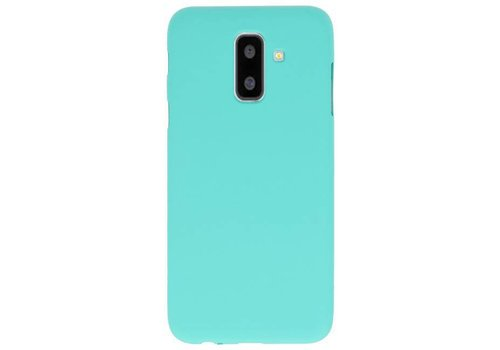 Color TPU Hoesje voor Samsung Galaxy A6 Plus Turquoise