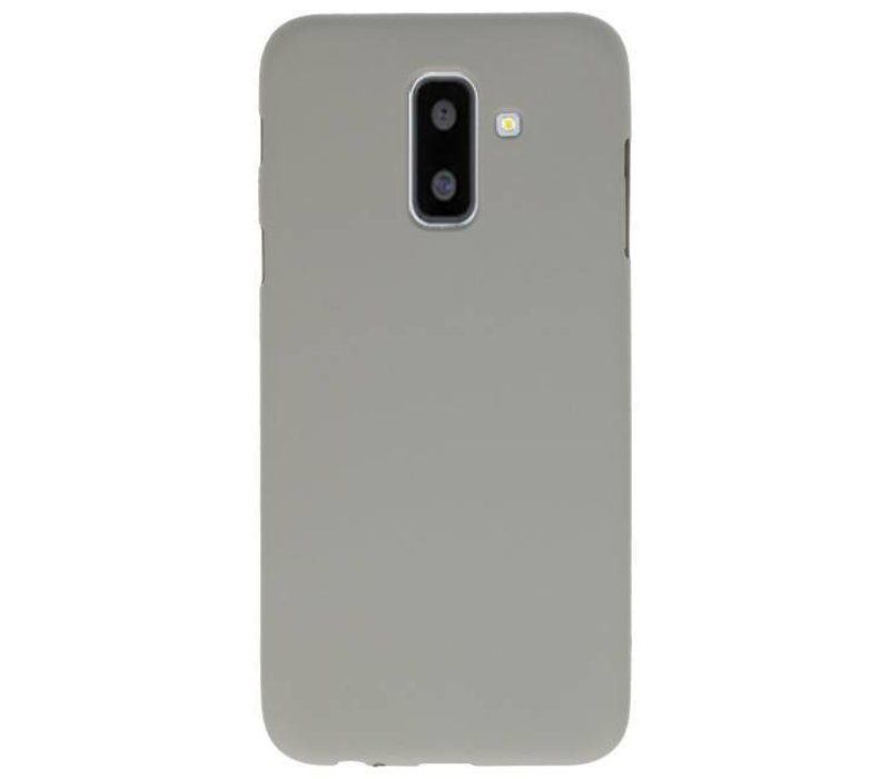 Color TPU Hoesje voor Samsung Galaxy A6 Plus Grijs