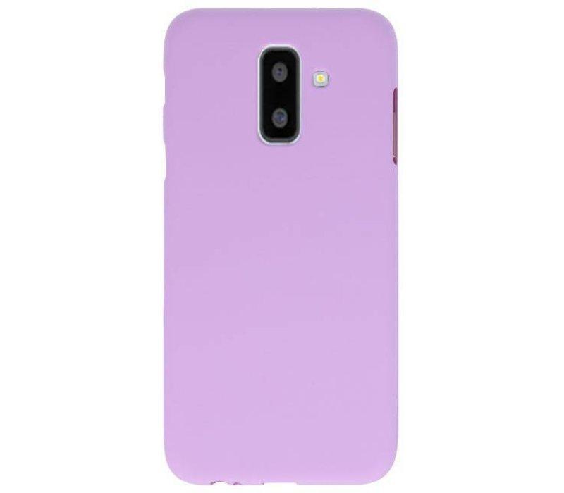 Color TPU Hoesje voor Samsung Galaxy A6 Plus Paars