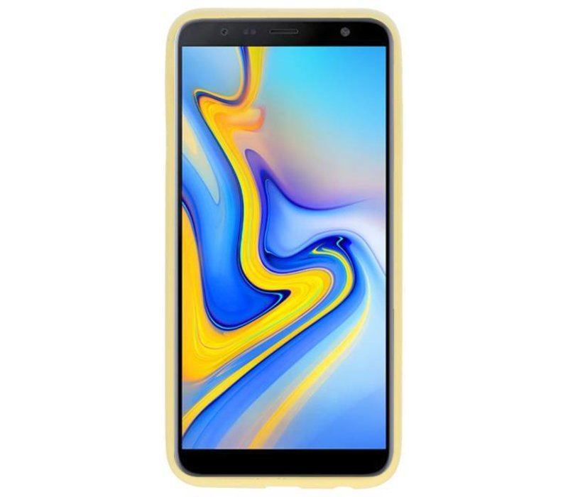 Color TPU Hoesje voor Samsung Galaxy A6 Plus Geel