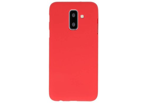 Color TPU Hoesje voor Samsung Galaxy A6 Plus Rood