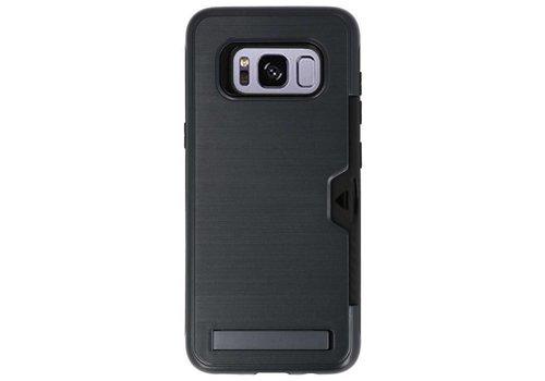 Tough Armor Kaarthouder Stand Hoesje voor Galaxy S8 Zwart