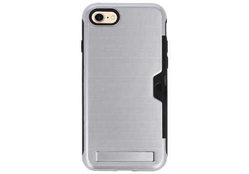 Tough Armor Kaarthouder Stand Hoesje voor iPhone 7/8 Zilver