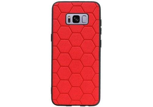 Hexagon Hard Case voor Samsung Galaxy S8 Rood