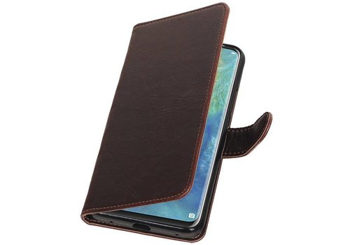 Pull Up Bookstyle voor Huawei Mate 20 Pro Mocca