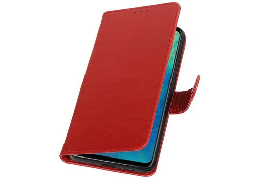 Pull Up Bookstyle voor Huawei Mate 20 Rood