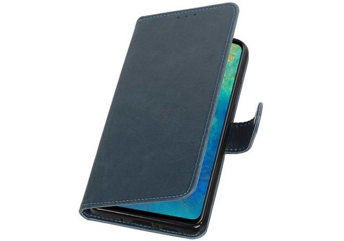 Pull Up Bookstyle voor Huawei Mate 20 Blauw