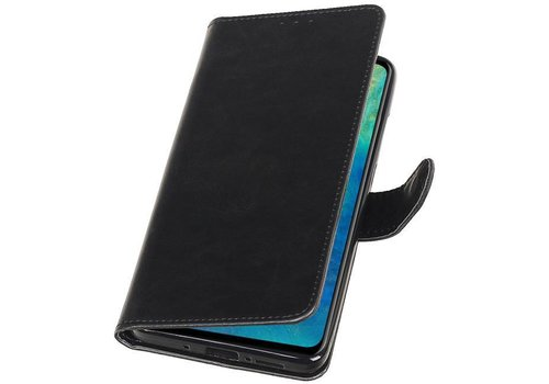 Pull Up Bookstyle voor Huawei Mate 20 Zwart