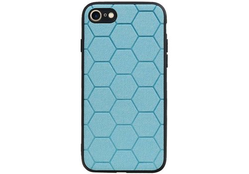 Hexagon Hard Case voor iPhone 8 / iPhone 7 Blauw