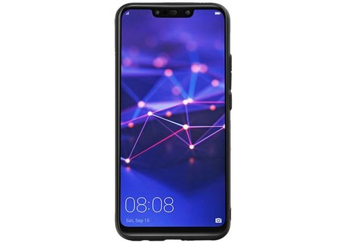 Hexagon Hard Case voor Huawei P20 Lite Zwart