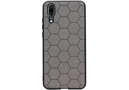 Hexagon Hard Case voor Huawei P20 Grijs