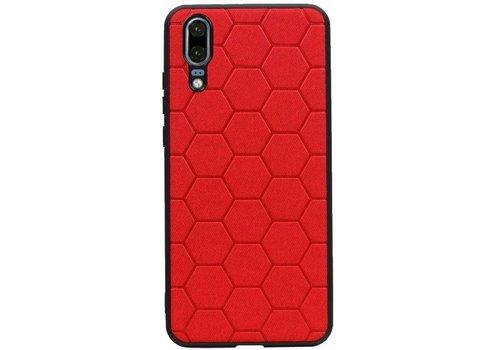 Hexagon Hard Case voor Huawei P20 Rood