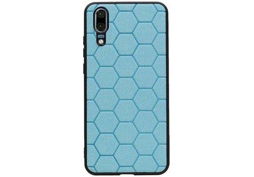 Hexagon Hard Case voor Huawei P20 Blauw