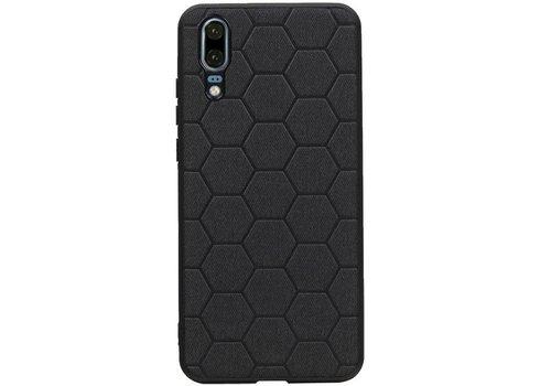 Hexagon Hard Case voor Huawei P20 Zwart