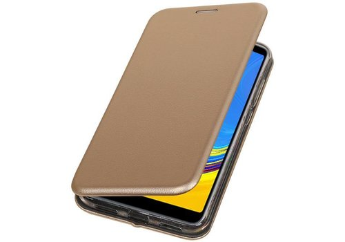 Slim Folio Case voor Samsung Galaxy A7 2018 Goud