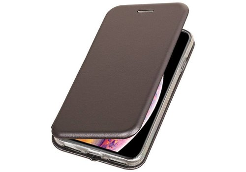 Slim Folio Case voor iPhone XS Max Grijs