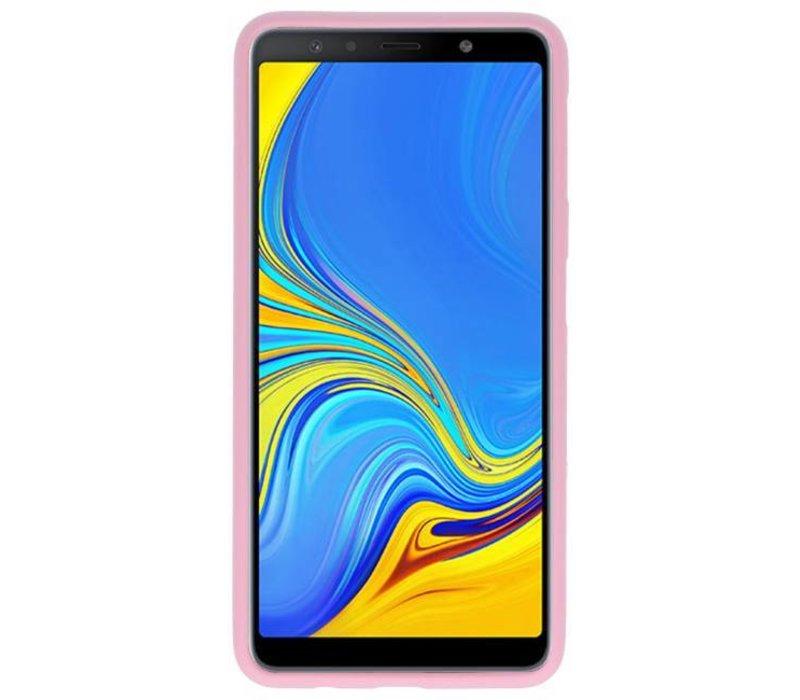 Color TPU Hoesje voor Samsung Galaxy A7 2018 Roze