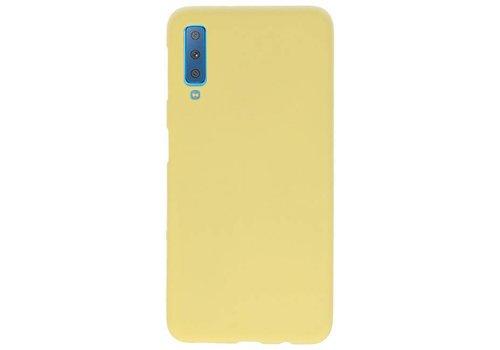 Color TPU Hoesje voor Samsung Galaxy A7 2018 Geel