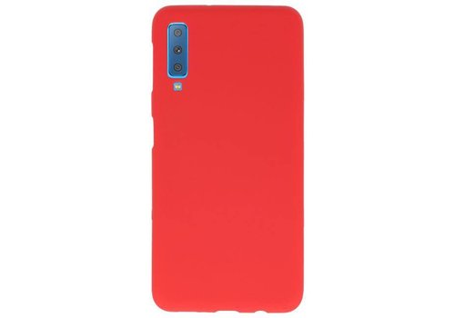Color TPU Hoesje voor Samsung Galaxy A7 2018 Rood