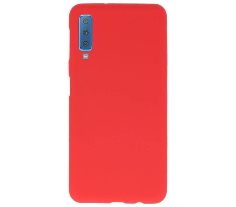 Color TPU Hoesje voor Samsung Galaxy A7 2018 Rood