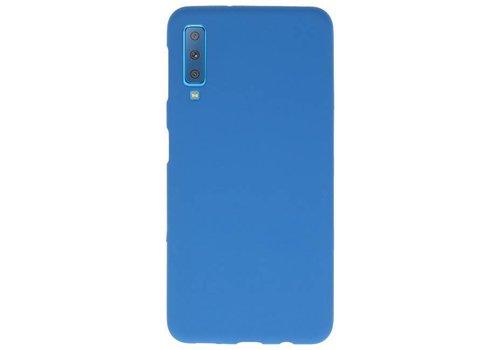 Color TPU Hoesje voor Samsung Galaxy A7 2018 Navy