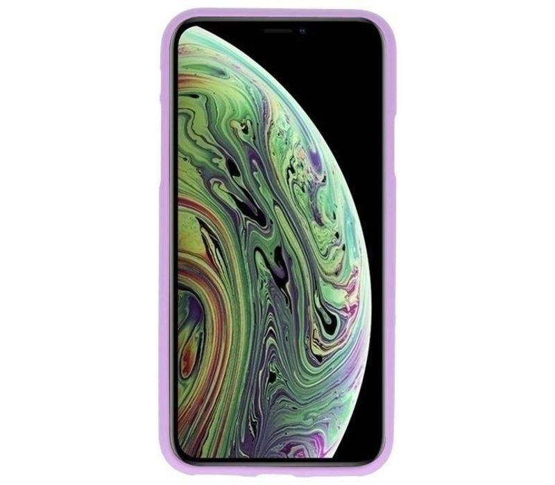 Color TPU Hoesje voor iPhone XS / X Paars