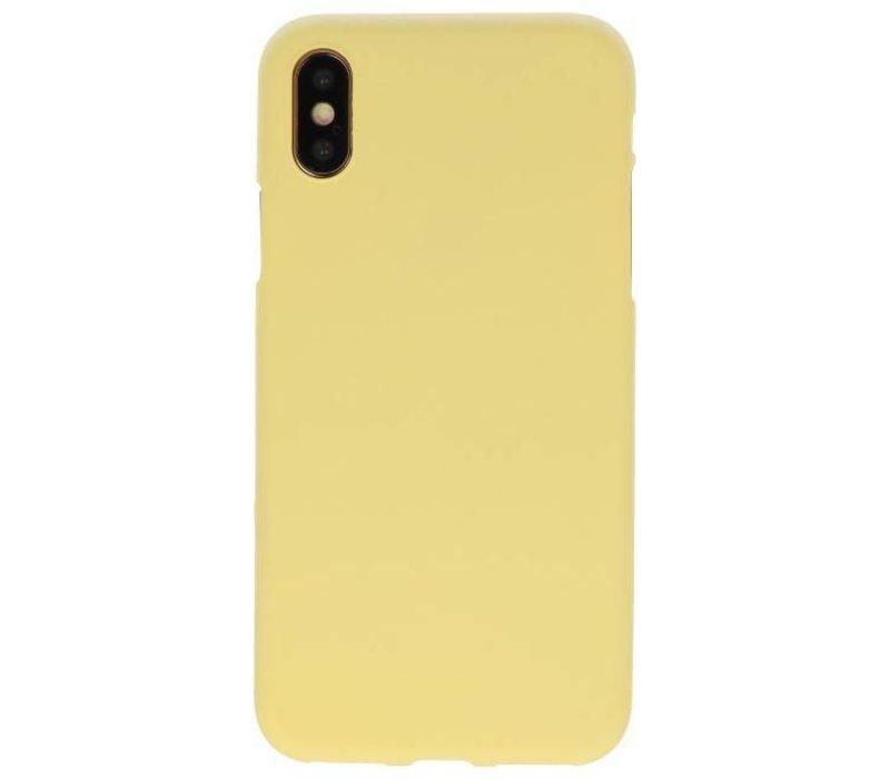 Color TPU Hoesje voor iPhone XS / X Geel