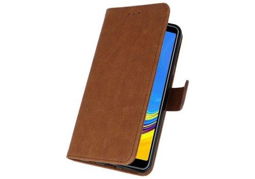 Bookstyle Wallet Cases Hoesje voor Galaxy A7 2018 Bruin