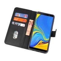Bookstyle Wallet Cases Hoesje voor Galaxy A7 2018 Zwart