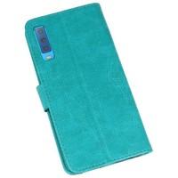 Bookstyle Wallet Cases Hoesje voor Galaxy A7 2018 Groen