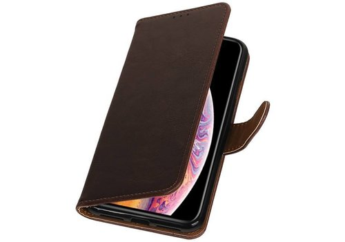 Pull Up Bookstyle voor iPhone XS Max Mocca