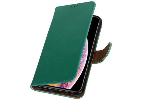 Pull Up Bookstyle voor iPhone XS Max Groen
