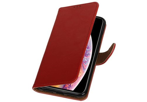 Pull Up Bookstyle voor iPhone XS Max Rood