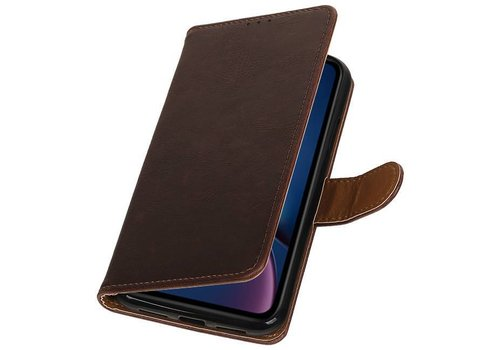 Pull Up Bookstyle voor iPhone XR Mocca