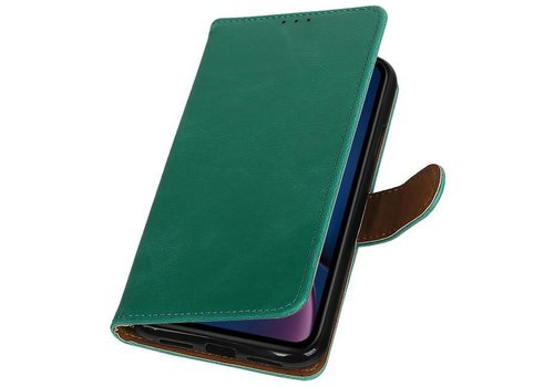 Pull Up Bookstyle voor iPhone XR Groen