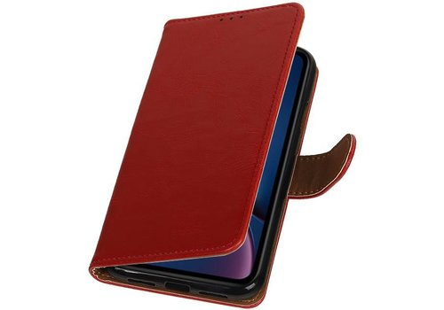 Pull Up Bookstyle voor iPhone XR Rood