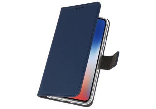 Wallet Cases Hoesje voor iPhone XS - X Navy