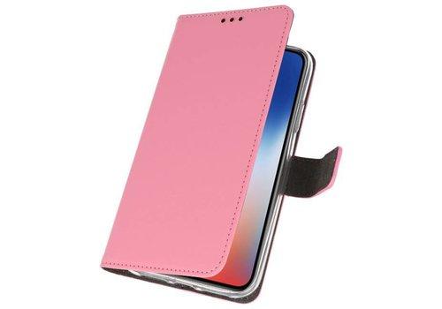 Wallet Cases Hoesje voor iPhone XS - X Roze