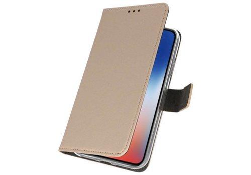 Wallet Cases Hoesje voor iPhone XS - X Goud