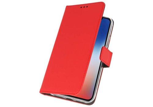 Wallet Cases Hoesje voor iPhone XS - X Rood