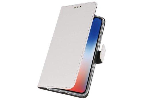 Wallet Cases Hoesje voor iPhone XS - X Wit